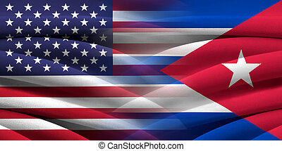 USA and Cuba. Relations between two countries. Conceptual...