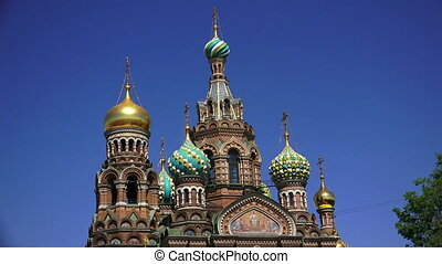 Church of the Savior on Blood in St. Petersburg. Shot in 4K...