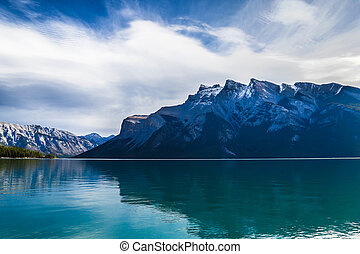 Lake Minnewanka - peaceful Lake Minnewanka in Banff
