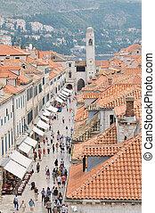 dubrovnik - dobrovnik old city in croatia turistic centar...
