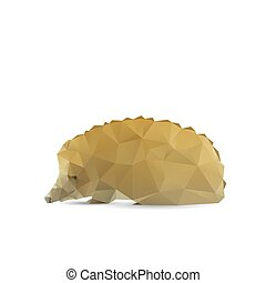 Abstract porcupine isolated on a white backgrounds