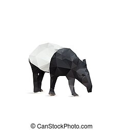 Abstract tapir isolated on a white backgrounds