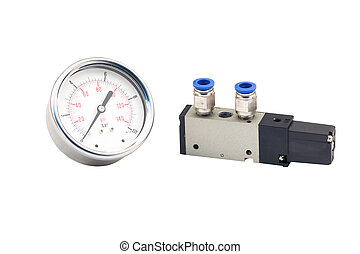 Pneumatic valves and Pressure Gauge