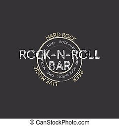 rock and roll bar stamp