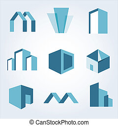 Building real estate icons set