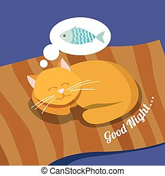 Sleeping cat background - Sleeping cute cat dreaming about...