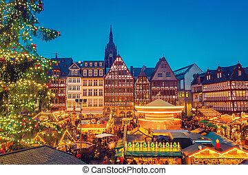 Natal, mercado, em, frankfurt,