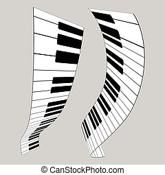 Piano keys, vector illustration for design