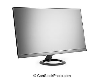lcd tv monitor isolated on a white background