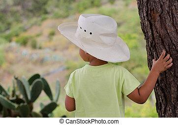 Child admiring nature