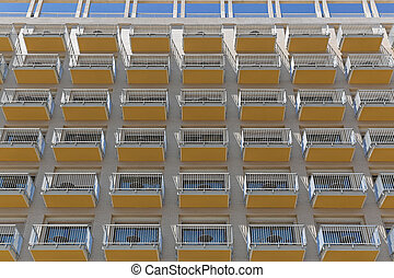 Balcony pattern - Balconies at hotel building repetitive...