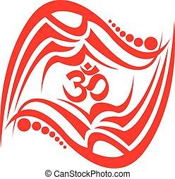 OM. - Spiritual Om Design.