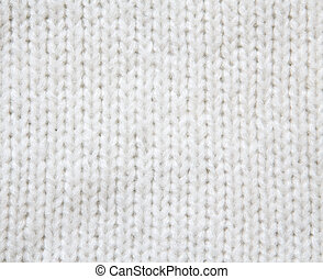 White woolen knitted sweater background - White woolen...