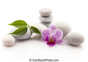 spa, stones.,