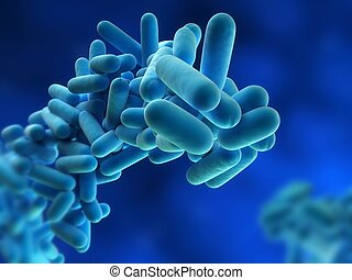 legionella pneumophila - 3d rendered close up of legionella...