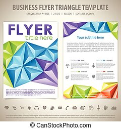 Flyer Design Template - Business Flyer Design with Triangle...