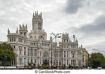 The Cybele Palace, Madrid, Spain - The Cybele Palace,...