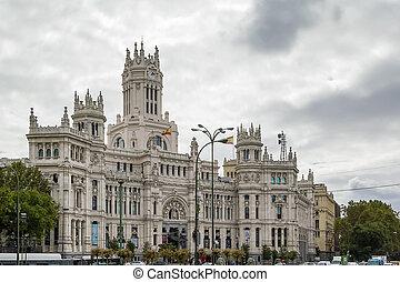 The Cybele Palace, Madrid, Spain. - The Cybele Palace,...