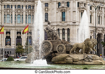Cibeles Fountain, Madrid - Cibeles Fountain is one of the...