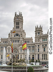 The Cybele Palace, Madrid, Spain - The Cybele Palace and...