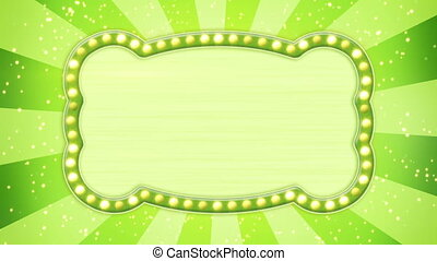 flash light bulbs green banner loop