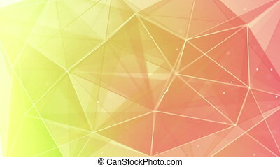 abstract triangle geometrical back - green pink triangles....