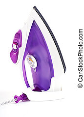 smoothing-iron - purple smoothing iron for home work...
