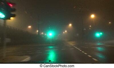 fog blurry light car