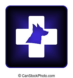 Veterinary icon. Internet button on white background.