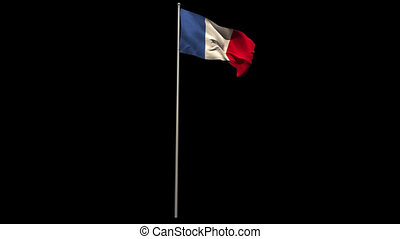 France national flag waving