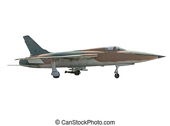 F-105 Thunderchief - Air Force F-105 Thunderchief on a white...