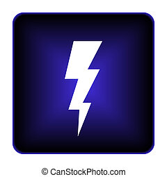 Lightning icon Internet button on white background