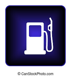 Gas pump icon Internet button on white background