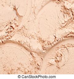 Face powder texture