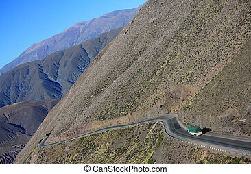 The Mountain road on the north of Argentina