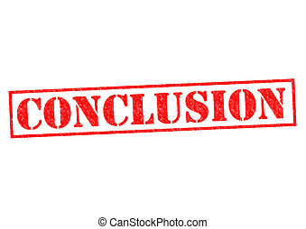CONCLUSION red Rubber Stamp over a white background.