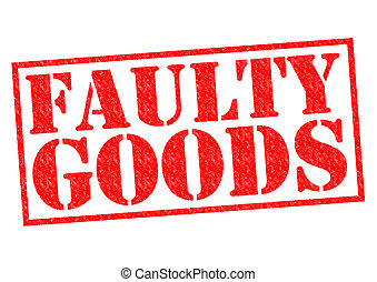 FAULTY GOODS red Rubber Stamp over a white background.