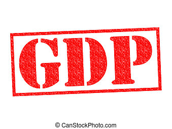 GDP Rubber Stamp over a white background.