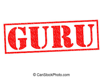 GURU Rubber Stamp over a white background.