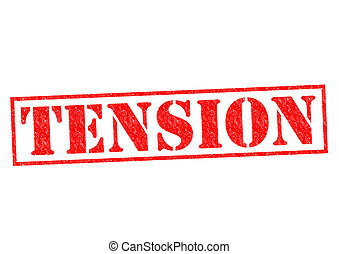 TENSION red Rubber Stamp over a white background