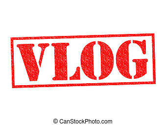 VLOG Rubber Stamp - VLOG red Rubber Stamp over a white...