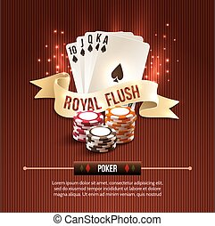 Pocker casino background - Pocker casino gambling set with...