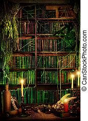 hermetic art - Witch's lair. Magic decoration. Alchemy....