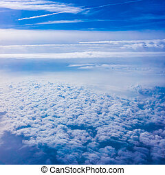 Clouds from an Airplane Window Sky and clouds Plane view...