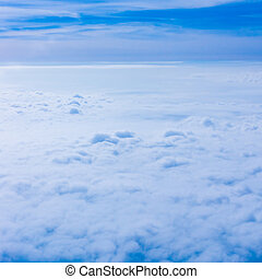 Clouds from an Airplane Window. Sky and clouds. Plane view...