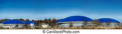 Biogas, biogas, planta,