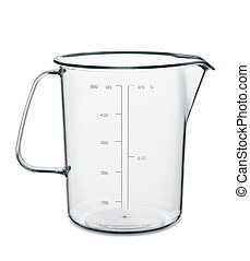 Measuring cup - Empty kitchen measuring cup isolated on...