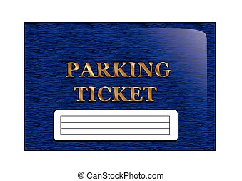 parking ticket isolated on a white background