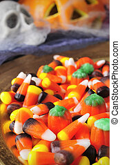 Halloween candies - a pile of different Halloween candies...