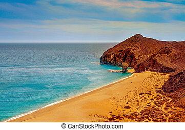 Playa de los Muertos beach in Spain - a view of Playa de los...